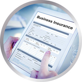 Business insurance document being viewed on tablet