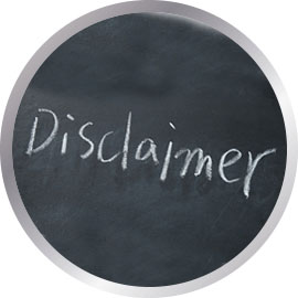 Disclaimer written on blackboard