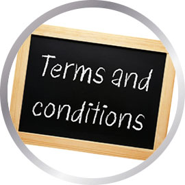 Terms and Conditions written on blackboard